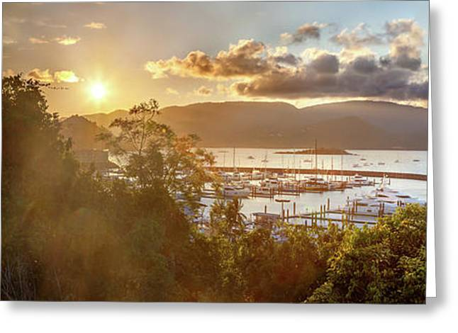 Airlie Beach Marina Greeting Card