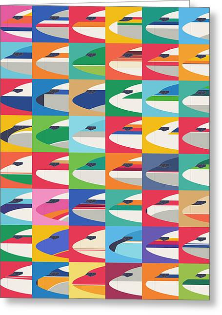 Airline Livery - Small Grid Greeting Card