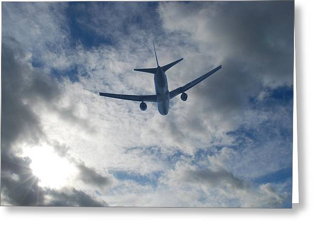 Airliner 01 Greeting Card by Mark Alan Perry