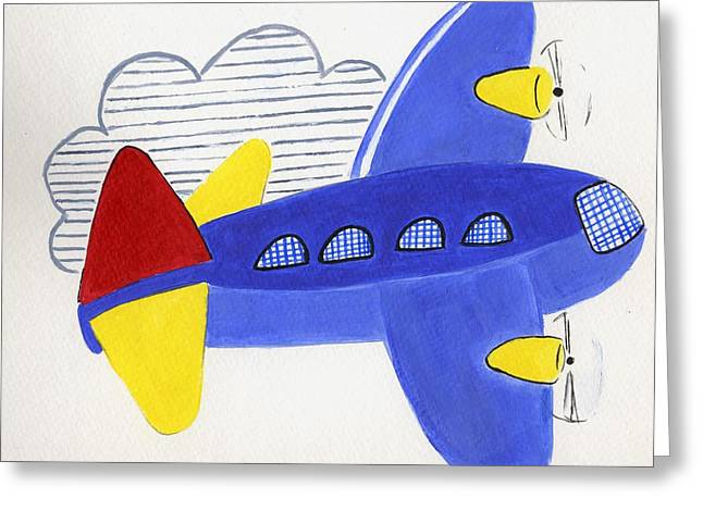 Airplane Greeting Card by Christine Quimby