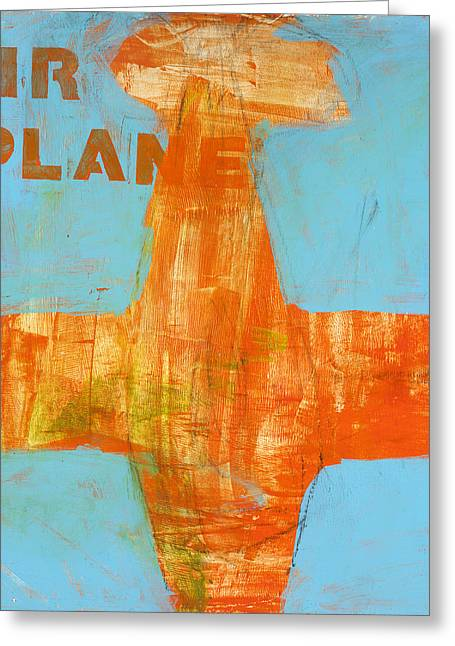 Airplane Greeting Card by Laurie Breen