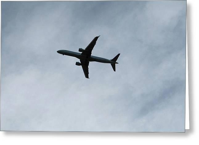 Airplane Silhouette Greeting Card