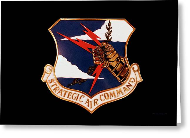 Airplanes Military Strategic Air Command Decal Greeting Card