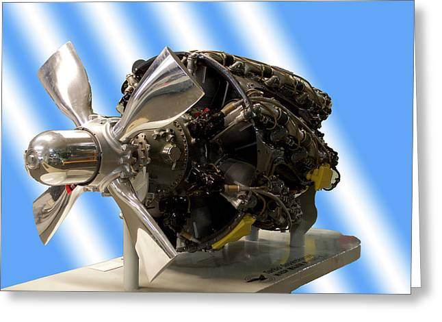 Airplanes Prop And Engine Greeting Card by Thomas Woolworth