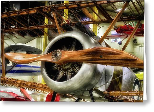 Airplanes Wooden Propeller Sopwith F1 Camel Pa Greeting Card by Thomas Woolworth