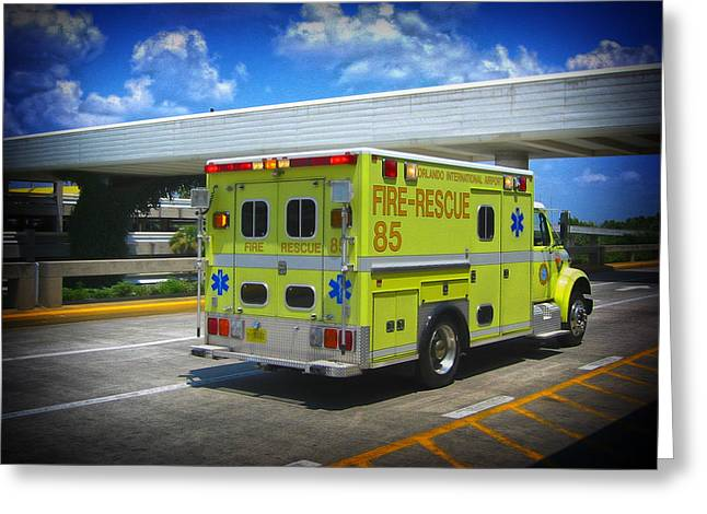 Airport Ambulance Greeting Card by RKAB Works