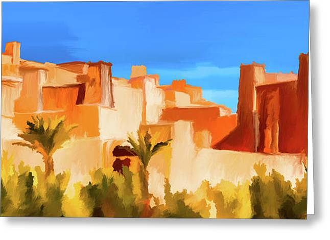 Ait Benhaddou Morocco Greeting Card by Wally Hampton