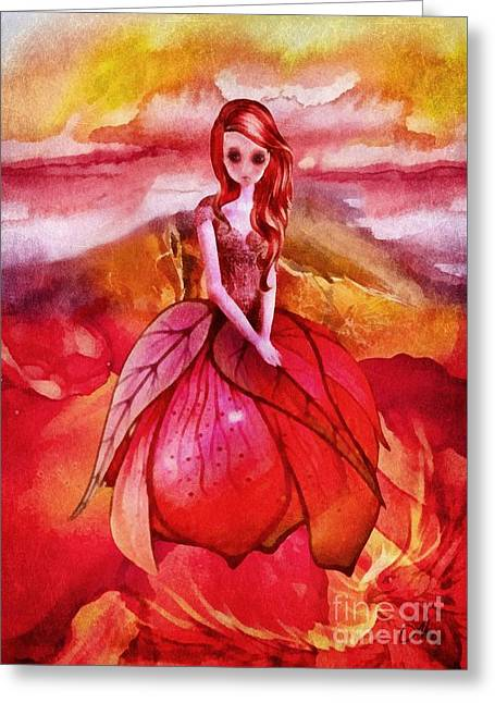 Greeting Card featuring the painting Aithne by Mo T