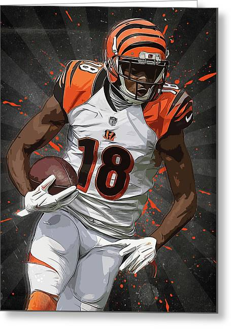 A.j. Green  Greeting Card by Semih Yurdabak