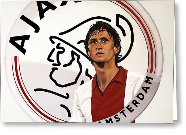 Ajax Amsterdam Painting Greeting Card