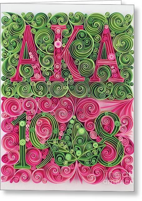 Aka 1908 Greeting Card by Felecia Dennis
