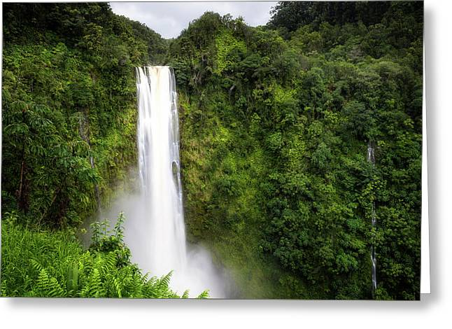 Akaka Falls Greeting Card by Ryan Manuel