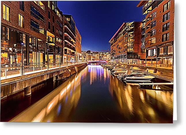 Aker Brygge Greeting Card