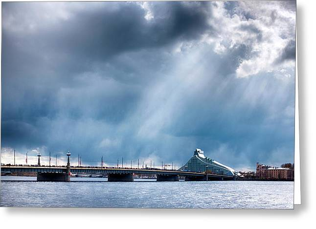 Greeting Card featuring the photograph Akmens Tilts  by Fabrizio Troiani