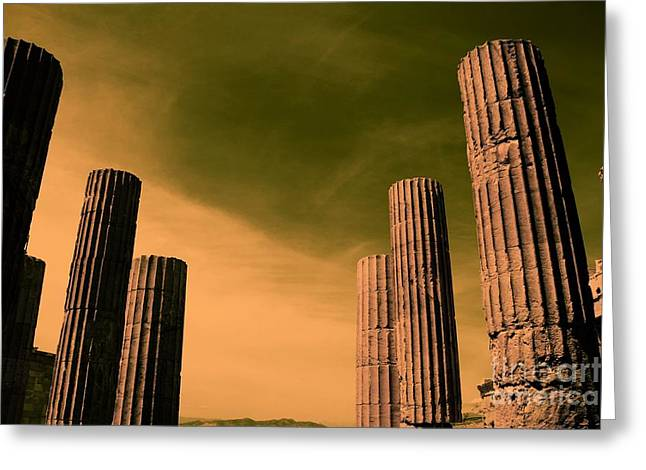 Akropolis Columns Greeting Card