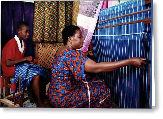 Akwete Weaving Greeting Card