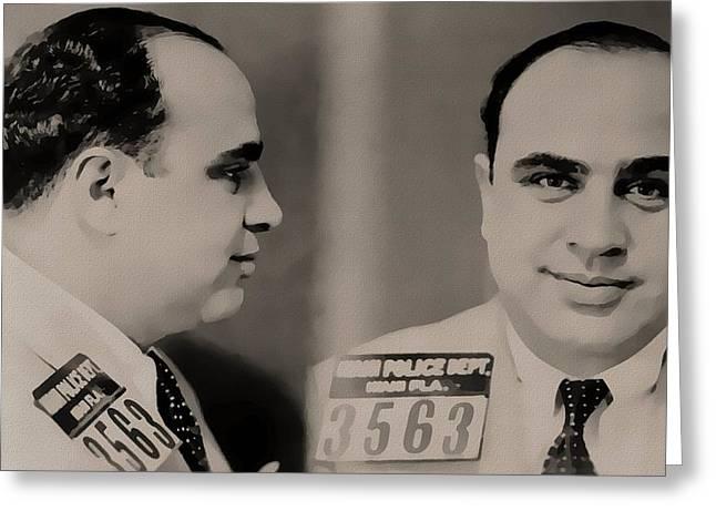 Al Capone Mugshot Greeting Card