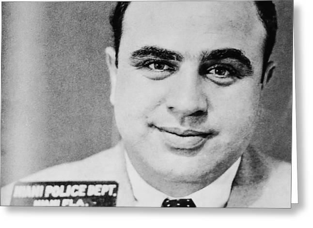 Al Capone Mugshot Miami Fl Greeting Card