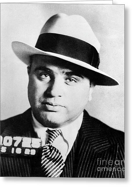 Al Capone Mugsot Greeting Card