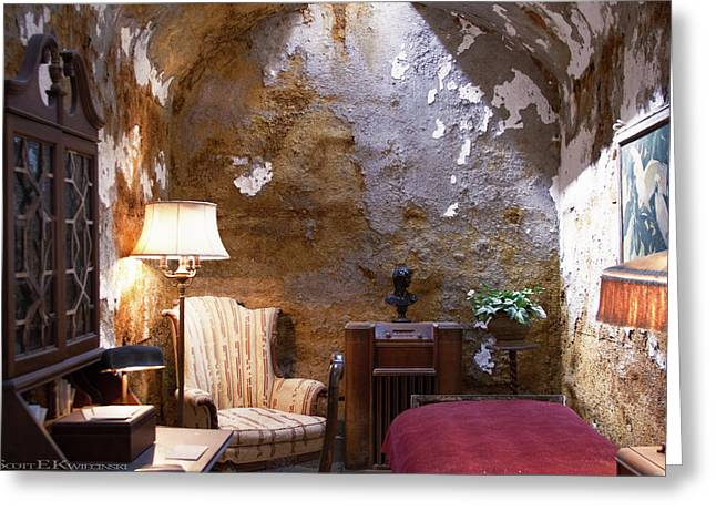 Al Capone's Jail Cell At Eastern State Penitentiary  Greeting Card by Scott Kwiecinski