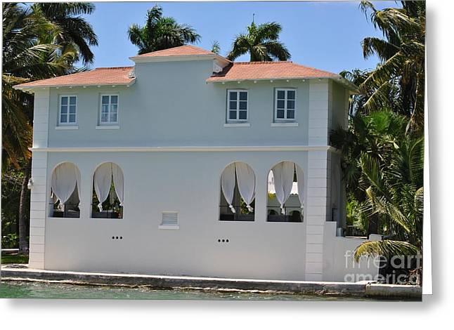 Al Capones Miami Pool House Greeting Card