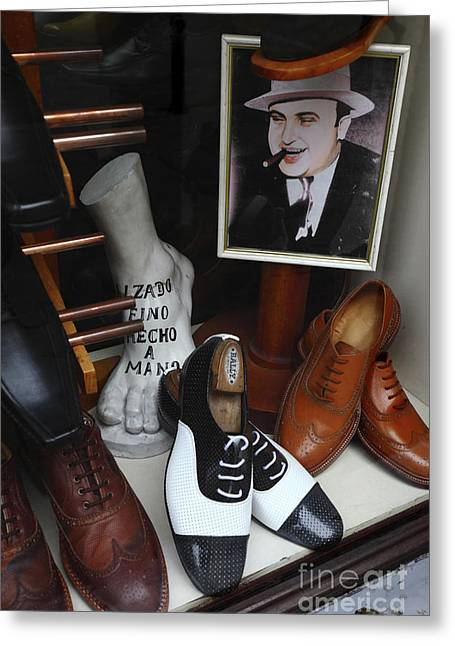 Al Capone's Shoe Collection Greeting Card by James Brunker
