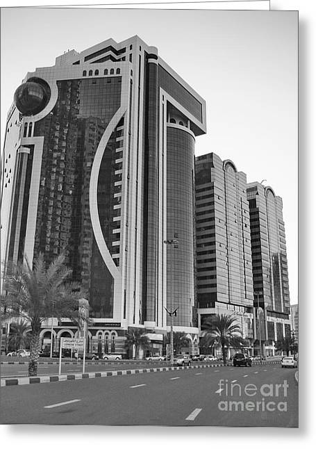 Al Durrah Tower - Sharjah Greeting Card by Hussein Kefel