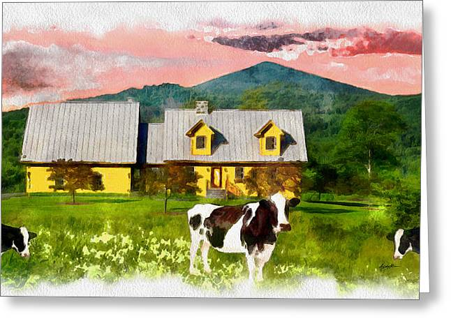 Al Fresco Dining Greeting Card by Anthony Caruso