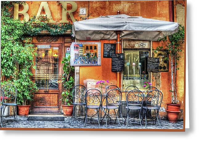 Greeting Card featuring the photograph Al Fresco Dining by Bellesouth Studio