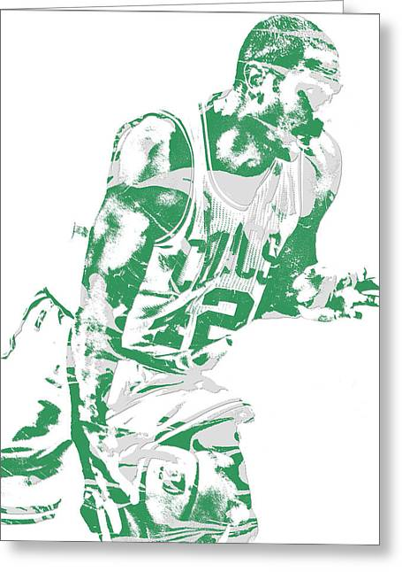 Al Horford Boston Celtics Pixel Art 5 Greeting Card