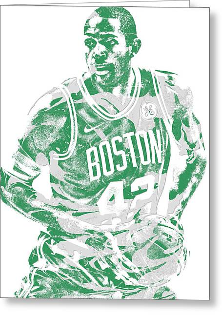 Al Horford Boston Celtics Pixel Art 6 Greeting Card