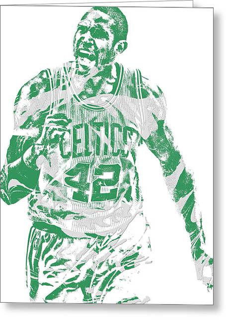 Al Horford Boston Celtics Pixel Art 7 Greeting Card