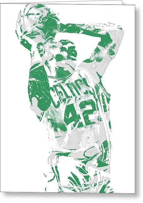 Al Horford Boston Celtics Pixel Art 8 Greeting Card