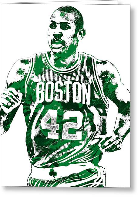 Al Horford Boston Celtics Pixel Art Greeting Card by Joe Hamilton