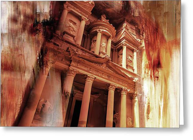 Al Khazneh Petra Jordan 01 Greeting Card by Gull G