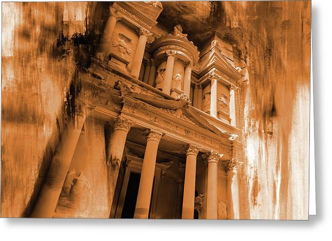 Al Khazneh Petra Jordan Greeting Card by Gull G