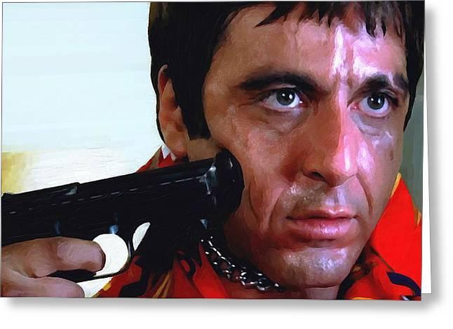 Al Pacino @ Scarface #1 Greeting Card by Gabriel T Toro