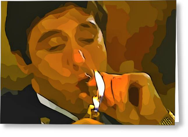 Al Pacino As Tony Montana Greeting Card
