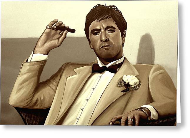 Al Pacino In Scarface Greeting Card by Meijering Manupix