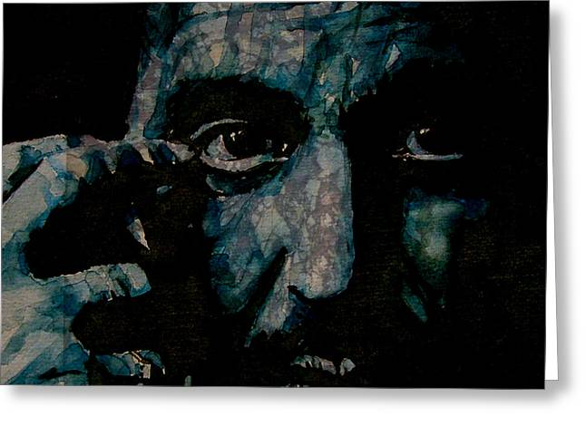 Al Pacino Greeting Card by Paul Lovering