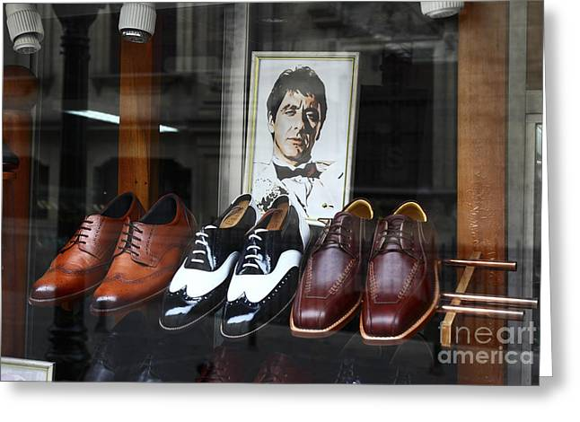 Al Pacino's Designer Shoe Collection Greeting Card by James Brunker