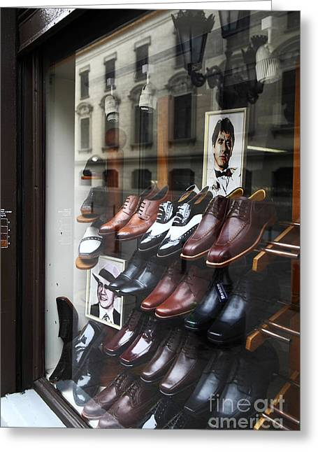 Al Pacino's Shoe Collection Greeting Card by James Brunker