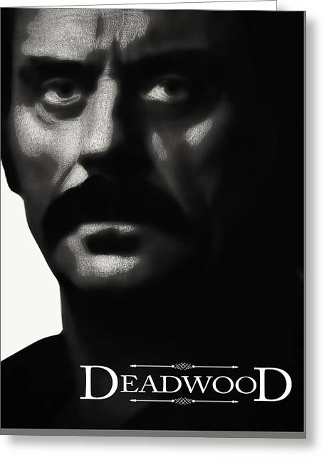 Al Swearengen - Gem Saloon Owner - Deadwood Greeting Card by Daniel Hagerman