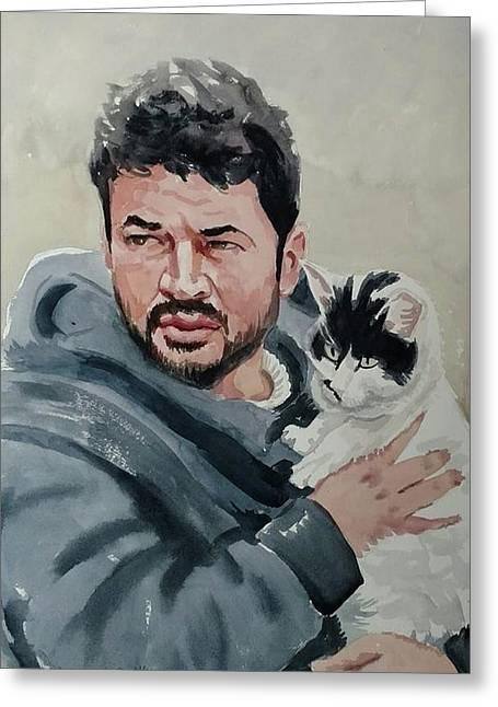 Alaa With Zorro Greeting Card