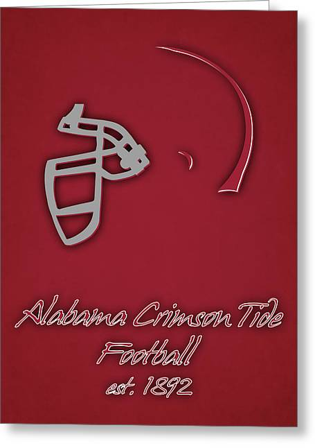 Alabama Crimson Tide Helmet Greeting Card by Joe Hamilton