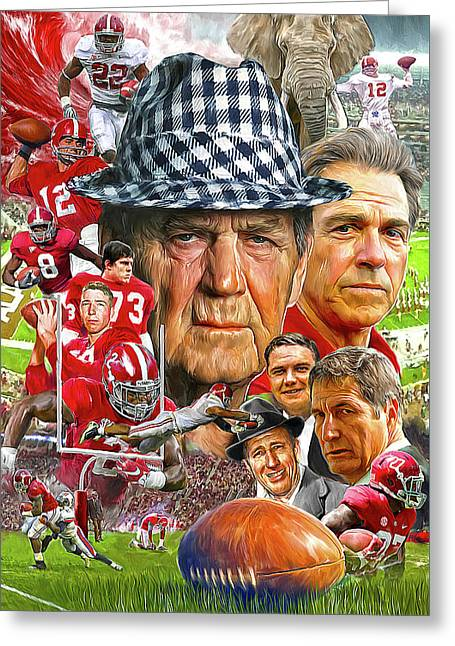 Alabama Crimson Tide Greeting Card by Mark Spears