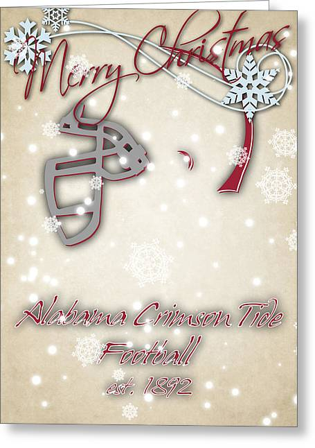 Alabama Cromson Tide Christmas Card Greeting Card by Joe Hamilton