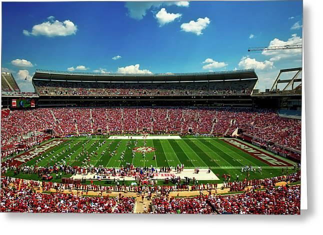 Alabama Football - Spring Game Greeting Card by Mountain Dreams