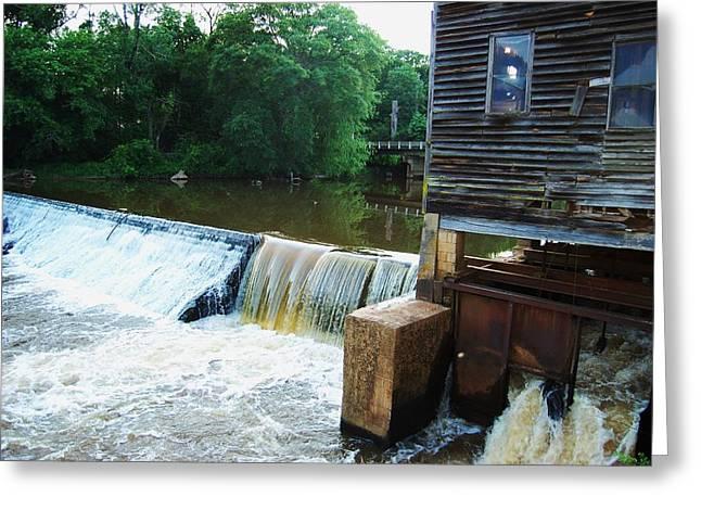 Alabama Grist Mill Dam Greeting Card by Beverly Hammond