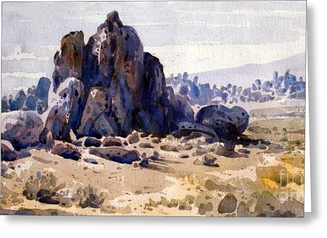 Alabama Hills Greeting Card by Donald Maier